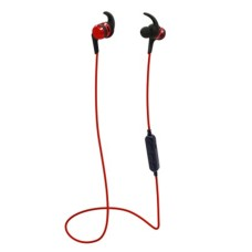 Audífonos con Micrófono, Brobotix, 497486, Inalambrico, Bluetooth, MicroSD, Rojo