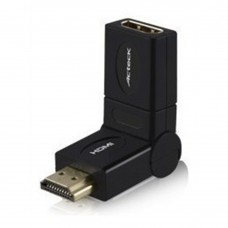 Adaptador de Video, Acteck,  LKAH-100, HDMI, Cople, Gira 360°, Negro