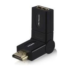 ACTECK - Adaptador de Video, Acteck,  LKAH-100, HDMI, Cople, Gira 360°, Negro