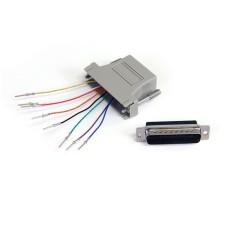 Adaptador, Startech, GC258MF, DB25 Macho a RH45 Hembra, Gris