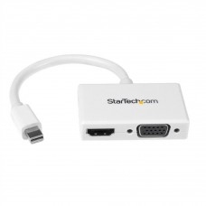 STARTECH - Adaptador de Video, StarTech, MDP2HDVGAW, Mini DP a HDMI, Mini DP a VGA, Blanco