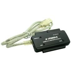 Adaptador, X-Media, XM-UB2235S, USB 2.0 a IDE/SATA, Negro