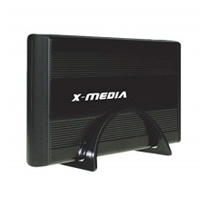 Gabinete Disco Duro, X-media, XM-EN3400-BK, SATA a USB 2.0, 3.5 pulgadas, Negro