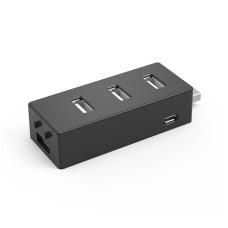 Concentrador Hub USB, X-Media, XM-UH2004, USB 2.0, 4 Puertos, Negro
