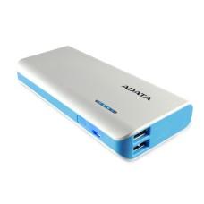 ADATA - Batería Portatil, Adata, APT100-10000M-5V-CWHBL, Blanco, Power Bank, 10000 mAh, 2 Puertos USB, 1 A, 2 A, Linterna