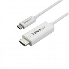 STARTECH - Cable de Video, Startech, CDP2HD1MWNL, USB-C a HDMI, 1m, Blanco