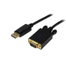 STARTECH - Cable convertidor, StarTech, DP2VGAMM3B, DisplayPort a VGA activo, 91cm, Negro