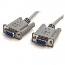 STARTECH - Cable de Modem, StarTech, SCNM9FF, Null DB9 H-H, RS232, 3 m, Gris