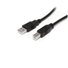 StarTech - Cable USB, StarTech, USB2HAB30AC, USB A a USB B, Impresora, 10 m, Negro
