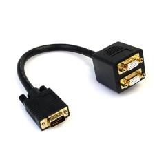 STARTECH - Cable divisor de Video, Startech, VGASPL1VV, VGA, 30m, Negro