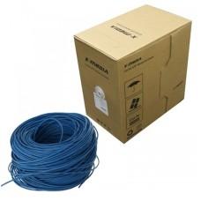 Bobina de Cable, X-media, XM-CA-TP6E1K-BU, Cat6 (UTP), 305mts. Azul