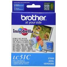 BROTHER - Cartucho de Tinta, Brother, LC51C, Cian, 400 Páginas