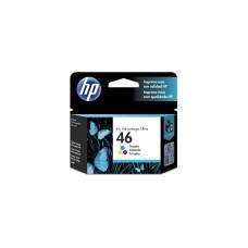 HP - Cartucho de Tinta, HP, CZ638AL, 46, Tricolor, 750 páginas