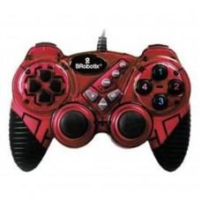 BROBOTIX - Control para Videojuegos, Brobotix, 751899R, Alambrico RumblePad, USB, Rojo/Negro