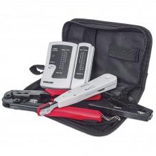 INTELLINET - Kit de Herramientas, Intellinet, 780070, Redes, Pelador, Ponchadora, Crimpadora y Probador de Cable