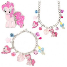 La Webería - My Little Pony, Set de Collar Pulsera y Aretes, Pinkie Pie