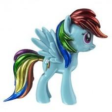 Funko - My Little Pony, Figura, Rainbow Dash, Pelo Metálico