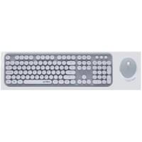 Teclado y Mouse, Acteck, AC-923200, Inalámbricos, 2.4GHz, Gris