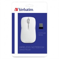 Mouse Óptico, Verbatim, VB99768, Inalámbrico, USB, Blanco
