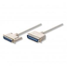 MANHATTAN - Cable de Impresora, Manhattan, 303033, Paralelo DB25 Macho a Paralelo CEN36 Macho, 1.8 m