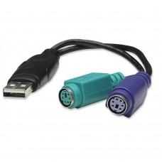 MANHATTAN - Cable Convertidor, Manhattan, 179027, Teclado y Mouse PS/2 a USB