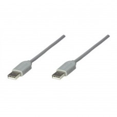 MANHATTAN - Cable USB, Manhattan, 317887, Tipo A Macho a Tipo A Macho, 1.8 m, Gris