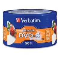 DVD-R, Verbatim, VB97167, Imprimible, 50 Discos