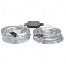 MANHATTAN - Cable USB, Manhattan, 510424, Tipo A Macho a Tipo B Macho, 11 m, Activo