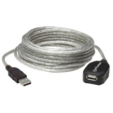MANHATTAN - Cable de Extensión USB, Manhattan, 519779, 5 m, Extensible a 15 m, Activa