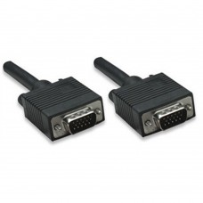 MANHATTAN - Cable VGA, Manhattan, 335607, 20 m, Macho-Macho, Negro