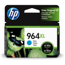 HP - Cartucho de Tinta, HP, 3JA54AL, 964XL, Cian, 1600 Páginas, Alto Rendimiento