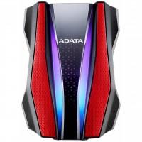 Disco Duro Externo, Adata, AHD770G-2TU32G1-CRD, 2 TB, USB 3.0, Rojo