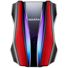 ADATA - Disco Duro Externo, Adata, AHD770G-2TU32G1-CRD, 2 TB, USB 3.0, Rojo