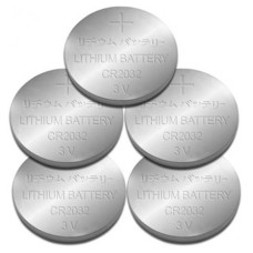 DATA COMPONENTS MAYOREO - Batería, Brobotix, 350323, CMOS, CR2032, Paquete 5 Piezas