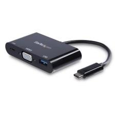 Adaptador, StarTech, CDP2VGAUACP, VGA, Cargador, USB
