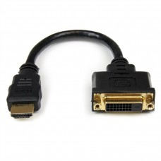 STARTECH - Adaptador de Video, StarTech, HDDVIMF8IN,  HDMI a DVI, Negro