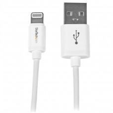 STARTECH - Cable Lightning, StarTech, USBLT1MW, USB 2.0, Blanco