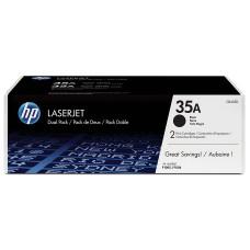 HP - Cartucho de Tóner, HP, CB435AD, 35A, Negro, Paquete de 2 piezas