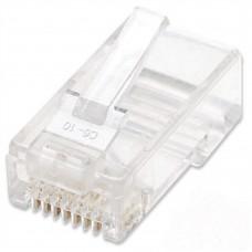 INTELLINET - Conector Plug RJ-45, Intellinet, 502344, Cat 6, UTP, Multifilar, 100 Piezas