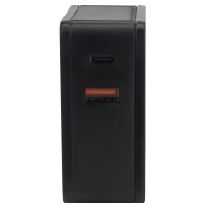 MANHATTAN - Cargador USB, Manhattan, 180214, USB C, USB A, Negro