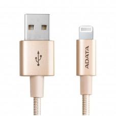 Cable de Datos, Adata, AMFIAL-1MK-CGD, USB a Lightning, 1 m, Dorado