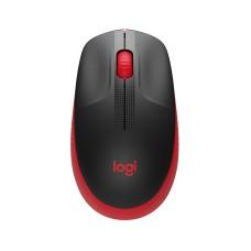 - Mouse Óptico, Logitech, 910-005904, M190, USB, 3 Botones, 1000 DPI, Rojo