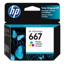 HP - Cartucho de Tinta, HP, 3YM78AL, 667, Tricolor