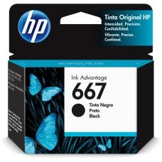 HP - Cartucho de Tinta, HP, 3YM79AL, 667, Negro