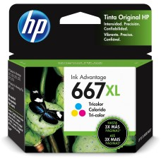 HP - Cartucho de Tinta, 3YM80AL, 667XL, Tricolor