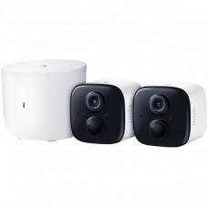 TPLINK - Cámara de Vigilancia, TP-Link, KC310S2, 1 HUB, 2 Cámaras inalámbricas, 2.4 GHz, IP65, 1080p, Audio 2 bidireccional