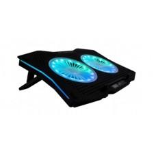 ACTECK - Base Enfriadora, Acteck, BR-931304, Balam Rush, 2 Ventiladores, RGB, EOLOX BSX10, Negro