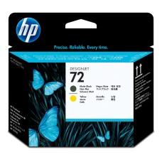 HP - Cabezal de Impresión, HP, C9384A, 72, Negro y Amarillo