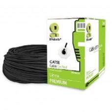 BROBOTIX - Cable de Red, Brobotix, 308218, Bobina, CAT 5E, CCA, Exterior, UTP, 200 m, Negro