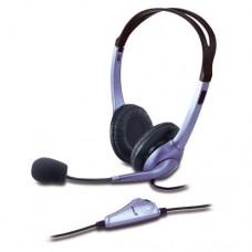 GENIUS - Audífonos con Micrófono, Genius, HS-04S, Diadema, 3.5 mm